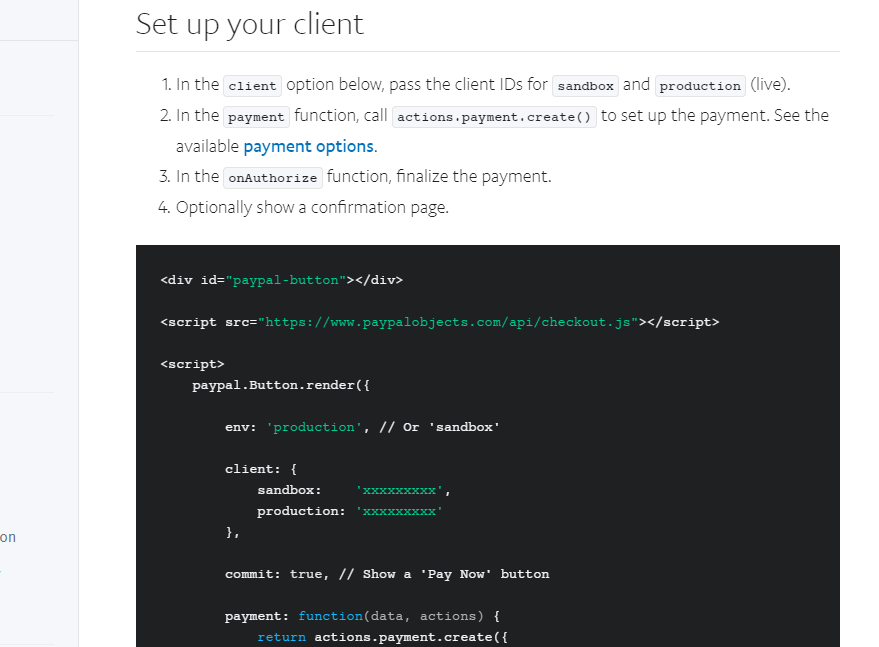 paypal developer documentation 2