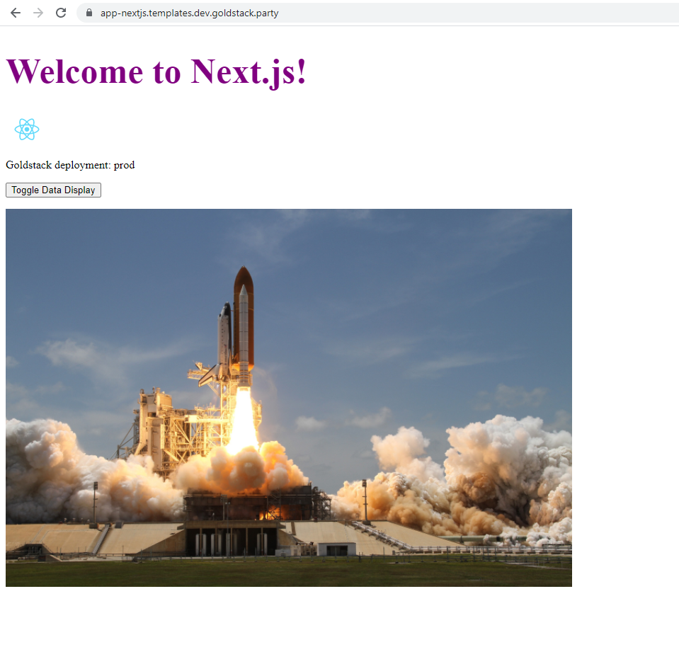 Next.js App for static export with images